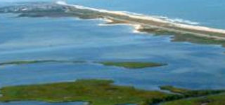 Aerial view of the south end of Avon on the Outer Banks